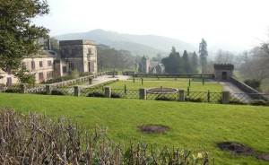 The Italian garden at Ilam hall