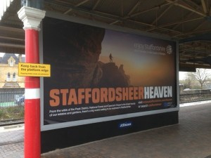 A poster advertising Staffordshire