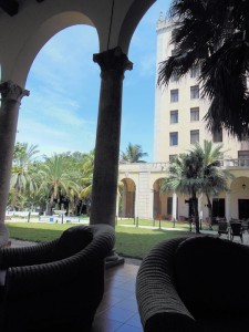 Relaxing in the shade at Hotel Nacional