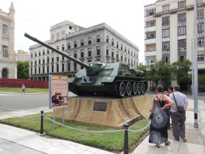 Tank outside the revolution museum