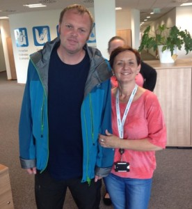 Leaving Phonak for the last time pictured with Tracey