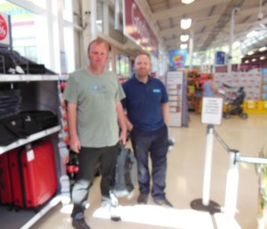 Glenn and I in the new Tesco