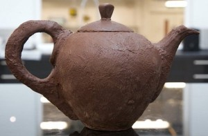 A real chocolate tea pot