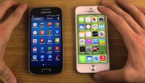 Galaxy s4 mini next to the Iphone 5s