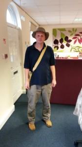 Me dressed as Indiana Jones.
