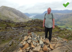 Haystacks - the final resting place of Wainwright