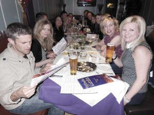 Friends having curry in Frodsham