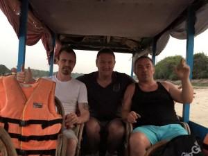 Tony and his crew in the Angkor watt