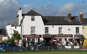 The London Inn, Shaldon - against fierce competition, the most shit pub in Shaldon.