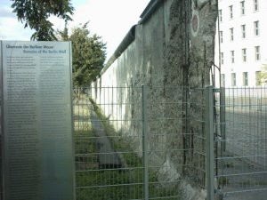 A remaining section of the Berlin wall.