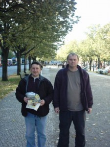 Frank and I in Berlin.