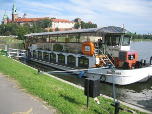 A riverboat with a live band