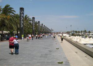 Port Olympic esplinade