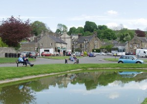 Hartington village in the evening