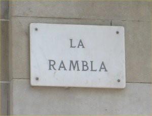 La Rambla sign