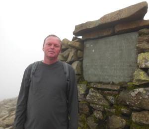 Top of Englands highest mountain
