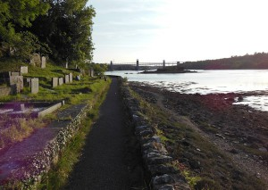 Walking around Menai bridge