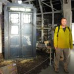 "Me standing next to the ""war Dr"" Tardis"