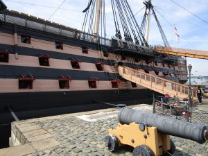 Newly painted HMS Victory