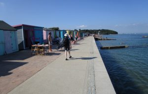 Walking next to the sea