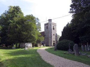 An old country churchyard in Droxford