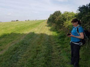 Nikki standing in a field