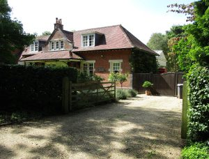 An old railway station at Droxford thats been converted into a private residence