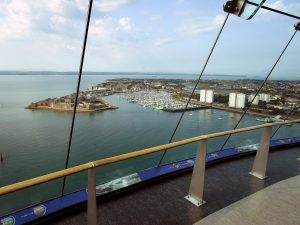 View accross portsmouth harbour taken from the Spinnaker