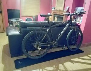 My Trekk bike, parked in my living room.