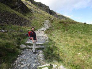 My friend Matt, walking up a hill in Snowdonia.