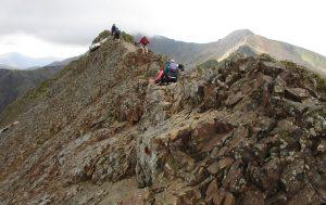 Looking across the ridge at Crib Goch.