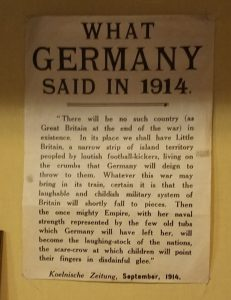 "Article titled ""what Germany said in 1914"" describing what Great Britain will be like after they lose the war."