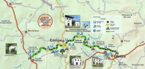 Map of the Via Verdi bike trails