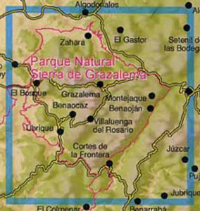 Map of the Grazalema national park