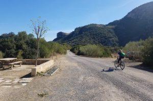 A cycling trail