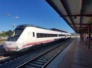 Train stopped at Ronda