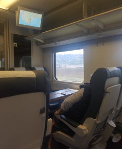 Inside a Spanish train