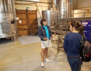 The owner of Chinchilla wine giving a talk on wine production