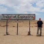 Me standing next to the Tropic of Capicorn