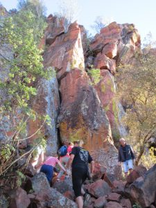 The climb up to the Waterberg Plateau