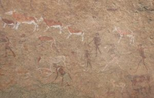 White lady paintings. Bushmen paintings dating back at least 2000 years